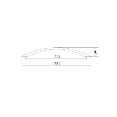 Мебелна дръжка 5107 - 224 мм - Цена: 6.06 лв.