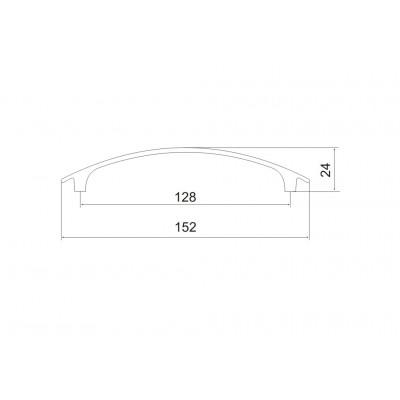 Мебелна дръжка 5168 - 128 мм - Цена: 2.64 лв.