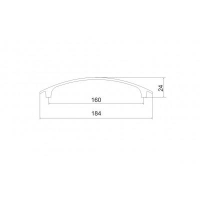 Мебелна дръжка 5169 - 160 мм - Цена: 3.00 лв.