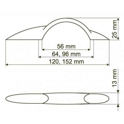 Мебелна дръжка UN55 - GAMET - Цена: 1.80 лв.