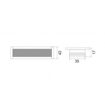 Ал.вкопана дръжка - квадратна Хром - Цена: 7.92 лв.