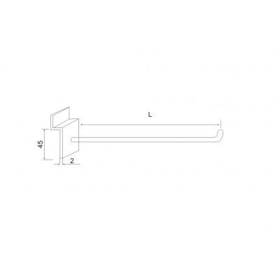 Закачалка за ал.профил SM 1044 A - права - Цена: 1.20 лв.