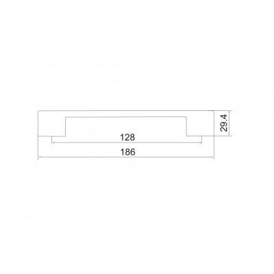 Мебелна дръжка 5137 - 128мм - Цена: 7.20 лв.