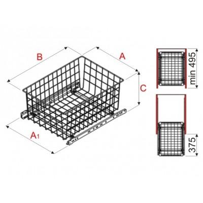 Изтегляща кошница за гардероб WA03 - Цена: