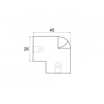L - Образна конзола за кръгъл лост Ø26 - Цена: 2.88 лв.