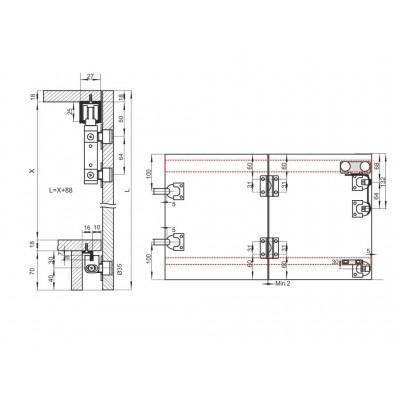 Механизъм за чупещи врати до 40 кг. - 03 MPV 2 - Цена: 26.40 лв.