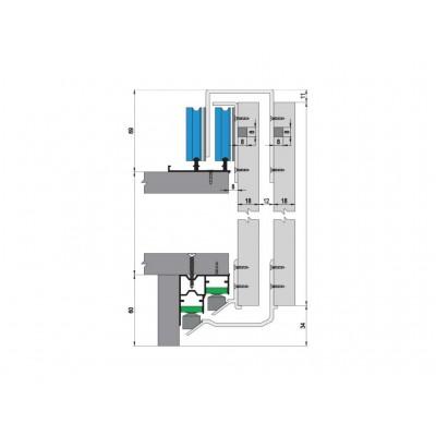 Механизъм за плъзгащи врати до 80 кг. - MPV - 04 - Цена: 34.80 лв.