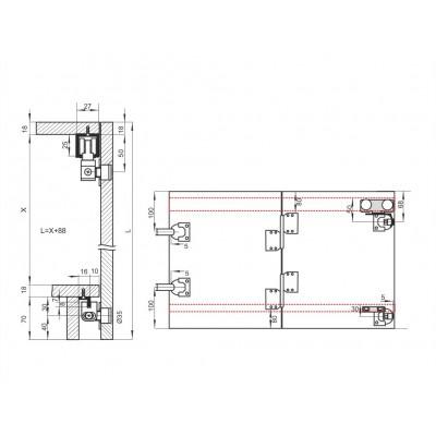 Механизъм за чупещи врати до 25 кг. - 05 MPV 2 - Цена: 18.00 лв.