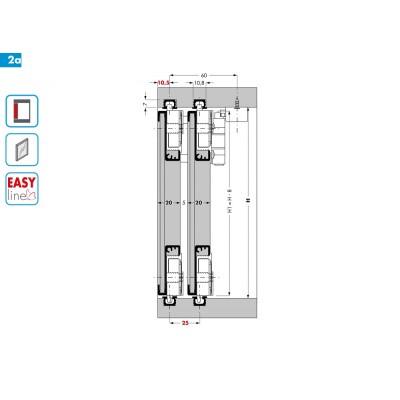 Система за плъзгащи се врати, товароносимост 40 кг. PS03 - CINETTO ITALY - Цена: 8.46 лв.