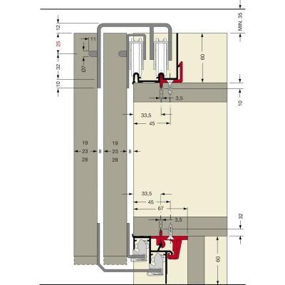 Система за плъзгащи врати с електрическо задвижване PS10 - CINETTO ITALY - Цена: 309.60 лв.