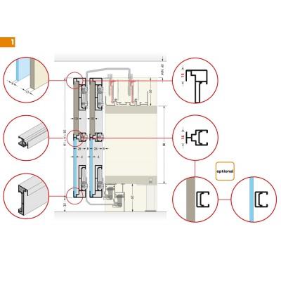 Система за плъзгащи се врати PS19 - CINETTO ITALY - Цена: 90.00 лв.