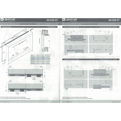 Механизъм за плъзгащи се врати с горно водене MPV 8220 - ALBATUR - Цена: 156.00 лв.