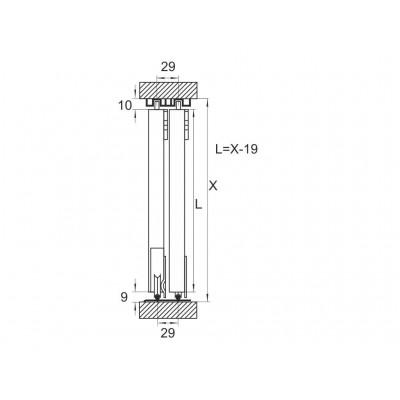 Механизъм за плъзгащи врати до 30 кг. - MPV - 30 NEW - Цена: 5.46 лв.