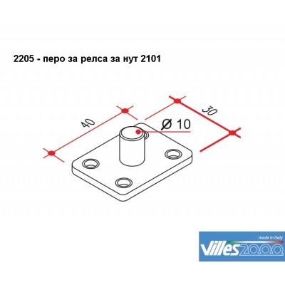 Перо (водач) за релса за нут 2101 - VILLES ITALY - Цена: 3.90 лв.