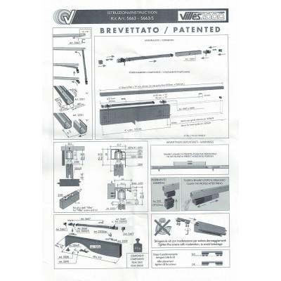 Механизъм за плъзгаща интериорна врата с плавно,80 кг 5663 - Villes 2000 - Цена: 142.56 лв.