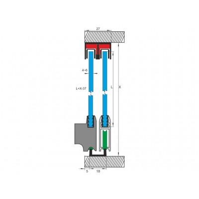 Механизъм за стъклени врати до 20 кг. - MPS 12 - Цена: 6.84 лв.