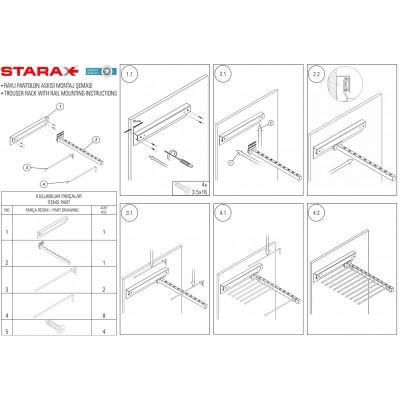 Механизъм за панталони - STARAX - Цена: 66.00 лв.