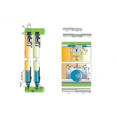 Механизъм за плъзгащи врати - MPV 60 - Цена: 7.62 лв.