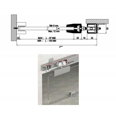 Механизъм за плъзгащи стъклени врати 9910 - Цена: 109.20 лв.