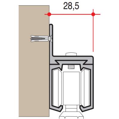 Планка за стена за релса 160кг - VILLES ITALY - Цена: 4.20 лв.