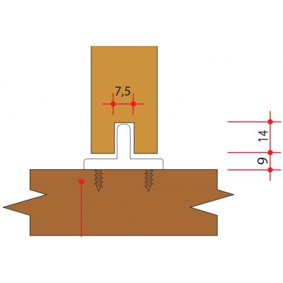 Перо (водач) за плъзгащи интериорни врати - VILLES ITALY - Цена: 1.74 лв.