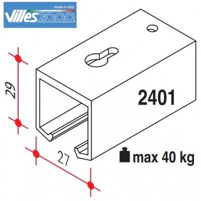 Релса за плъзгаща интериорна врата до 40кг,2,3 или 4 метра - VILLES ITALY - Цена: 29.88 лв.