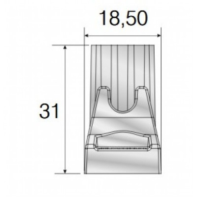 Сглобка за алуминиев профил-държач - Цена: 0.24 лв.