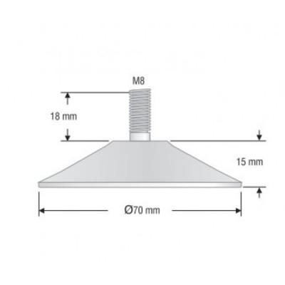 Регулируема конична стъпка Ø70 мм - Цена: 0.42 лв.
