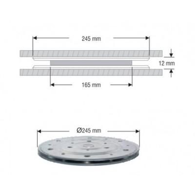 Метален кръгъл въртящ се механизъм /за телевизор/ - Цена: 18.90 лв.