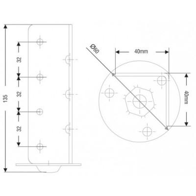 Ъглова метална планка за легло - Цена: 3.90 лв.