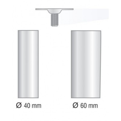 Кръгла метална планка Ø60 мм - Цена: 0.90 лв.