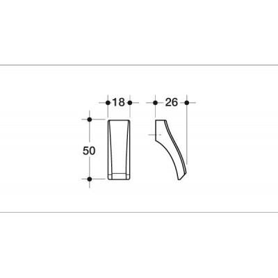 Мебелна дръжка 014 - Цена: 2.28 лв.