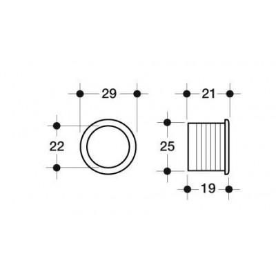 Декоративна втулка за без дръжка - Цена: 1.02 лв.