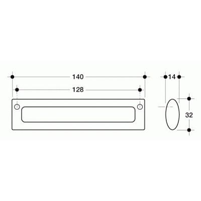 Мебелна дръжка 393 ХРОМ - Цена: 2.64 лв.