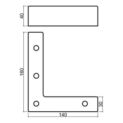 ПВЦ ъглов крак за мека мебел - Цена: 4.20 лв.