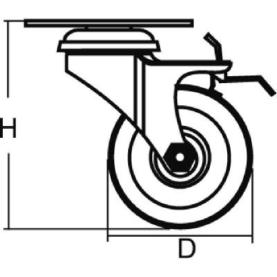 Мебелно колело с планка и гума със стопер - Цена: 3.60 лв.
