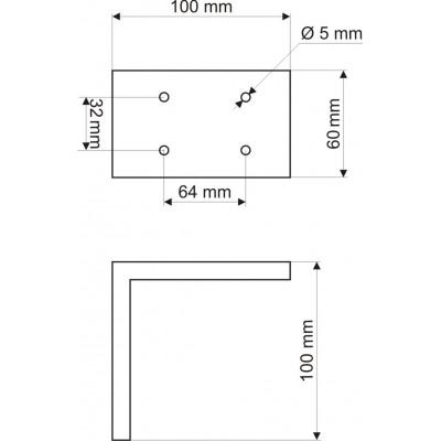 Алуминиев дизайнерски крак 100 мм - GAMET - Цена: 14.40 лв.