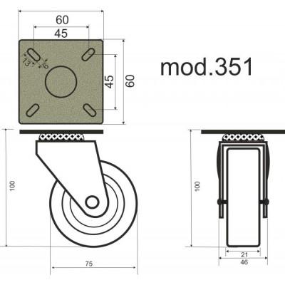 Колело мебелно модел 351 - Цена: 4.20 лв.