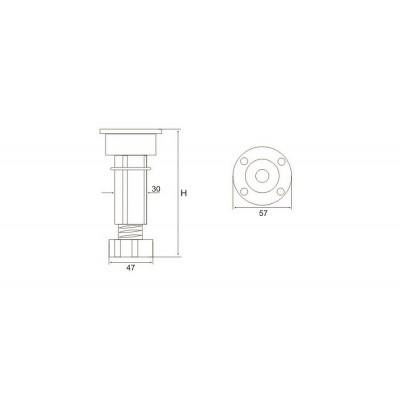 ПВЦ кухненски крак - 100- 150 мм - Цена: 0.36 лв.