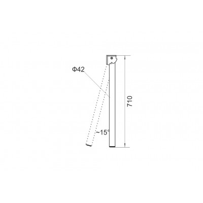 Крак за сгъваема маса - 710 мм - Цена: 24.00 лв.