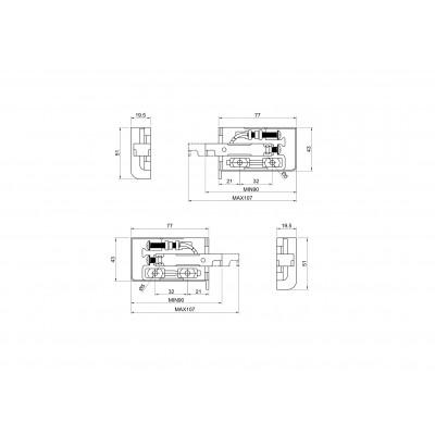 Регулиращ окачвач за СКШ - D`CONTI - Цена: 2.10 лв.