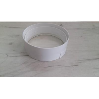 Свързващ елемент за въдуховод Ø120 PVC - Цена: 2.82 лв.
