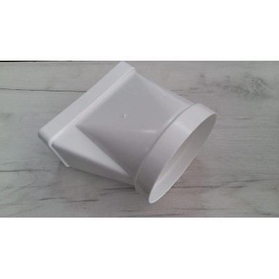 Преходник150Х75 / Ø120 PVC - Цена: 6.60 лв.