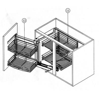 Магически ъгъл за глух шкаф А-ляв, В-десен - Цена: 300.00 лв.