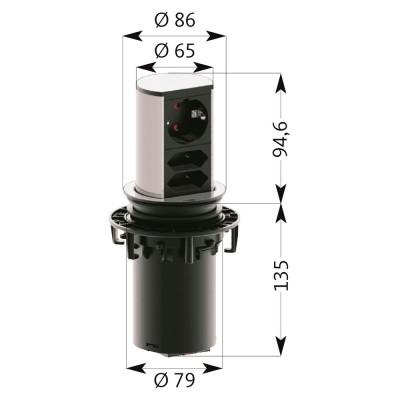 Разклонител за вграждане ELEVATOR - BACHMANN GERMANY - Цена: 156.00 лв.