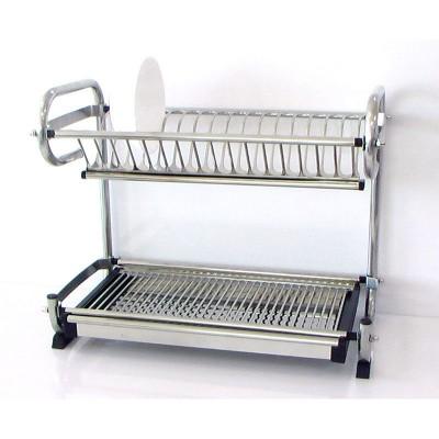 Сушилник от неръждаема стомана за чаши и чинии с тавичка - Цена: 48.00 лв.