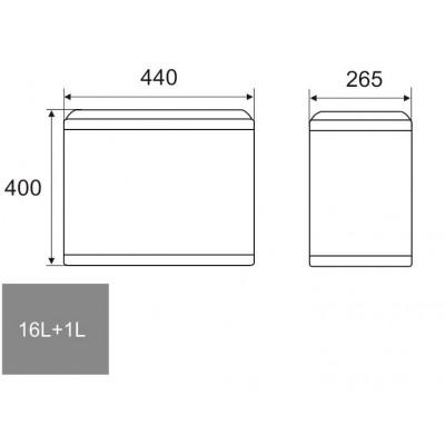 ПВЦ кош за вграждане модел S-2391 - Цена: 74.40 лв.
