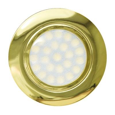 Мини LED луна за вграждане 4W, 4200K, 220V AC, неутрална светлина,IP44, ЗЛАТО - Цена: 9.90 лв.