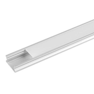 Алуминиев профил за LED лента, плитък, 2м