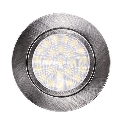 Мини LED луна за вграждане 4W, 4200K, 220V AC, неутрална светлина, IP44, сатинаран никел - Цена: 10.50 лв.